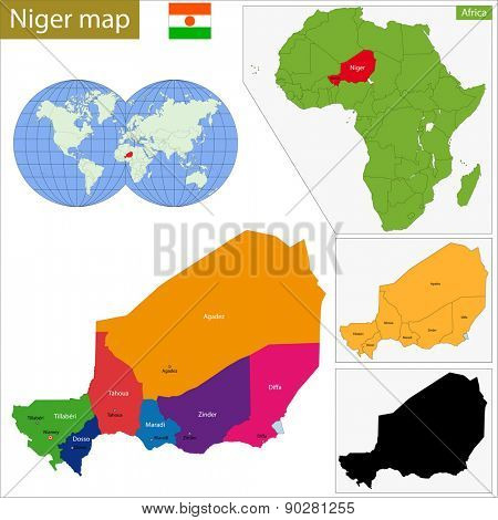 Administrative division of the Republic of Niger