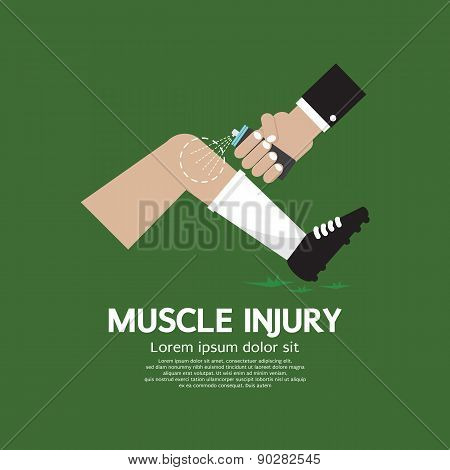 Muscle Injury With Spray Healing.