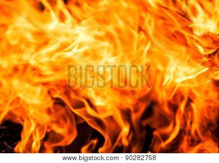 fire closeup as a background