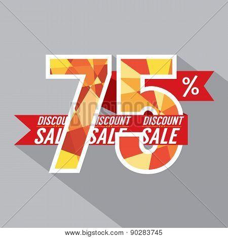 Discount 75 Percent Off.