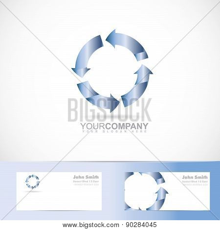 Rotation Arrow 3D Circle Logo