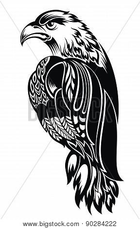 Detailed Decorative Hand Drawn Eagle