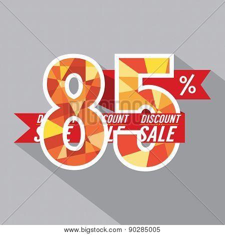 Discount 85 Percent Off.
