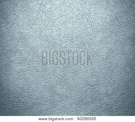 Columbia blue color leather texture background