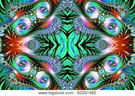 Multicolored Background With Spiral Pattern. Artwork For Creative Design, Art And Entertainment.