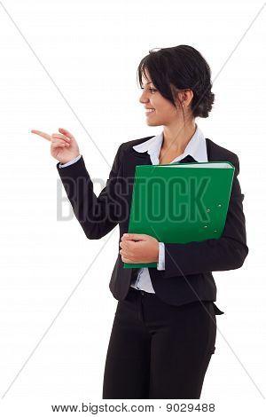Woman Holding A Folder