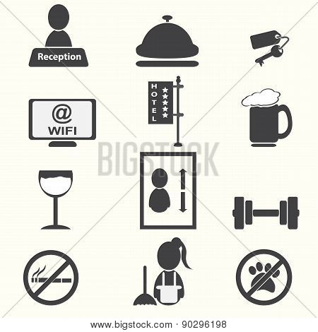 Hotel, Miscellaneous Icons