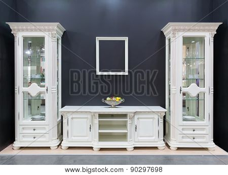 Cupboards in the room