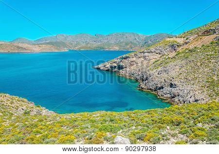 Peaceful azure sea bay, Greece