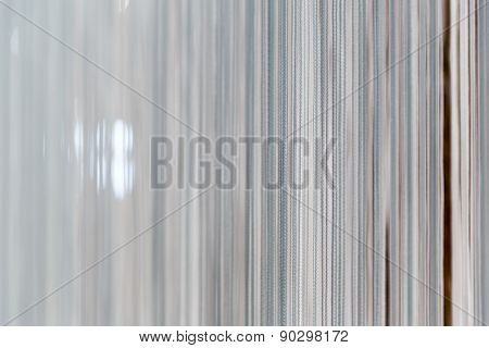 Modern white curtain
