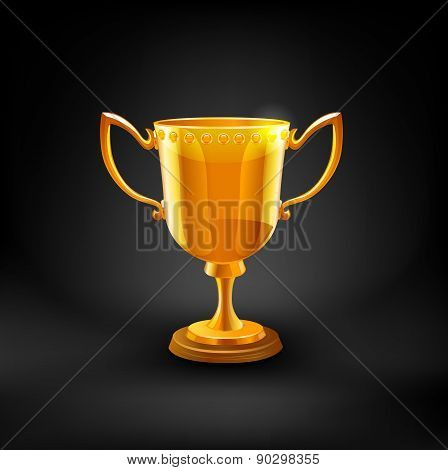 Gold Trophy Cup. Vector