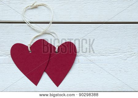 Two Hearts Label With Copy Space