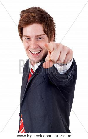 Man Pointing To Camera