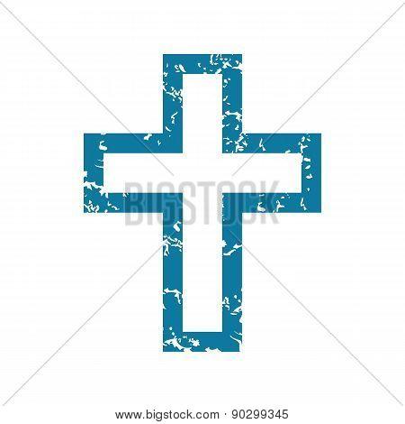 Grunge christian cross icon