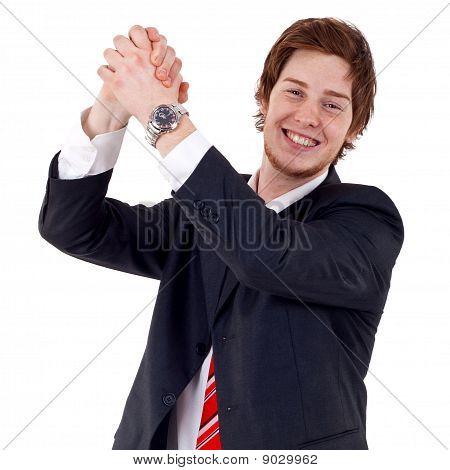 Business Man Celebrating