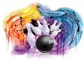 stock photo of striking  - bowling strike - JPG