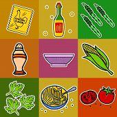 foto of celery  - Nine images of different foods  - JPG