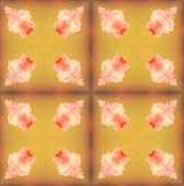picture of parallelepiped  - background seamless pattern made from piece of flower in vintage style created from filter technique - JPG