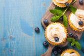 picture of curd  - Mini lime curd tartlets with meringue - JPG