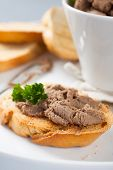 pic of liver  - Open sandwiches with homemade chicken liver pate - JPG