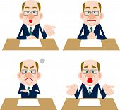 picture of counseling  - Businessman poses collection of such meetings and counseling - JPG