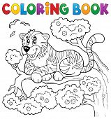 picture of wildcat  - Coloring book tiger theme 1  - JPG
