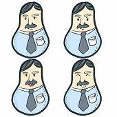 stock photo of tumblers  - Funny Businessman Vector  - JPG