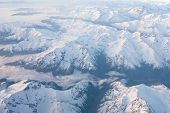 stock photo of andes  - Andes mountains from the sky  - JPG