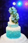 image of three tier  - beautiful turquoise three - JPG