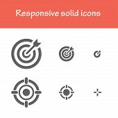 pic of solid  - responsive solid icons isolated flat black color - JPG
