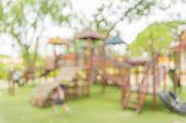 image of public housing  - Defocused and blur image of children - JPG