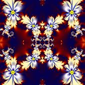 picture of computer-generated  - Flower pattern in fractal design - JPG