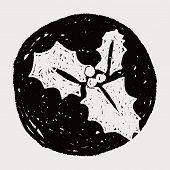 image of poinsettias  - Poinsettia Doodle - JPG