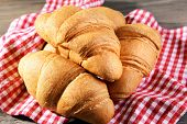 pic of croissant  - Delicious croissants on table close - JPG