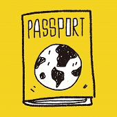image of passport cover  - Doodle Passport - JPG