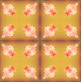 pic of parallelepiped  - background seamless pattern made from piece of flower in vintage style created from filter technique - JPG