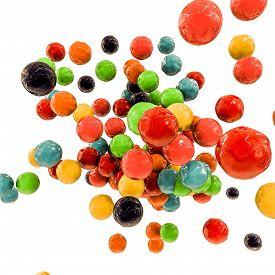 stock photo of gumballs  - Illustration of gumballs isolated on white background - JPG