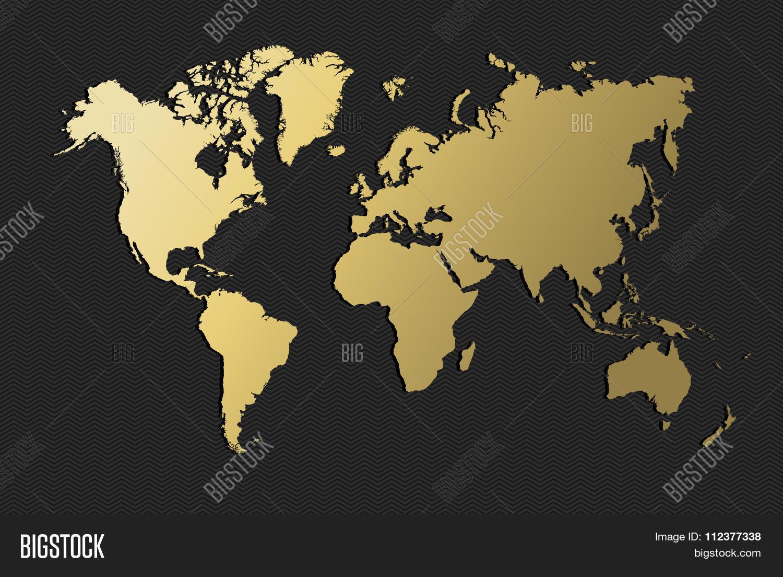 World Map Gold Earth Blank Empty Vector Photo Bigstock - Earth blank map