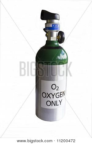 Longitud total del cilindro de oxígeno