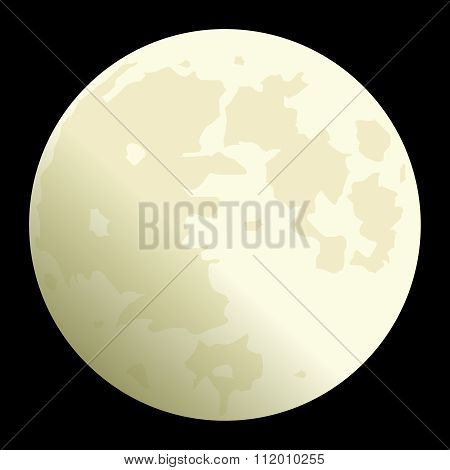 Vector Realistic Full Moon Illustration