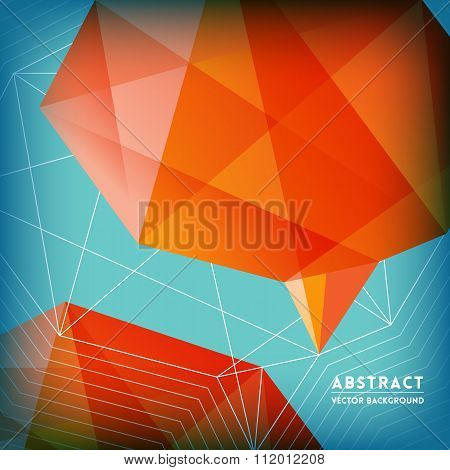 Abstract Low Polygonal Brain Shape Background
