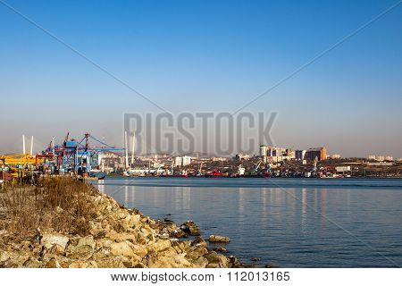 port waters of Vladivostok Russia