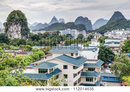 Panorama Of Guilin And Its Karst Mountains From Fubo  Hill