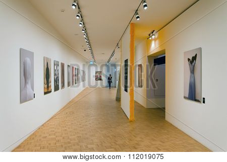 Rotterdam, Netherlands - May 9, 2015: People Visit Kunsthal Museum In Museumpark, Rotterdam