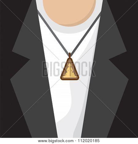 Buddhist Amulet Necklace.