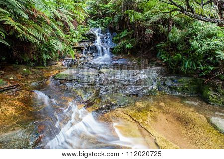 Tiny Waterfall In Blue Mountains, Australia