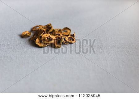 Dried Apples On Linen