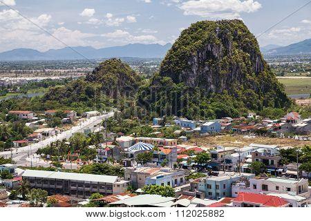Da Nang, Vietnam - Circa August 2015: Tho Son Mountain, Marble Mountains,  Vietnam