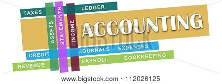 Accounting Wordcloud Colorful Stripes