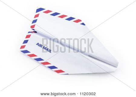 Paper Airplane Airmail Concept